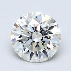 1,31-Carat Round Diamond Ideal H VVS2