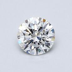 0.72 Carat 圆形 Diamond 理想 H IF