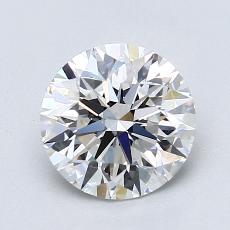 1.53-Carat Round Diamond Ideal F VVS2
