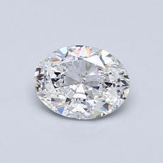 0.60-Carat Oval Diamond Very Good E VVS2