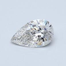 0,50-Carat Pear Diamond Very Good G VS2