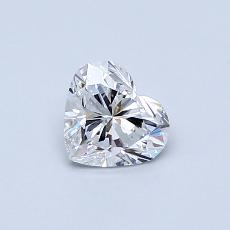 0.51 Carat 心形 Diamond 非常好 E VVS1