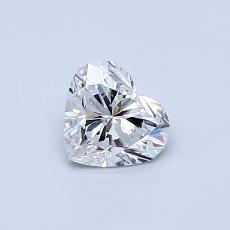 0.51-Carat Heart Diamond Very Good E VVS1