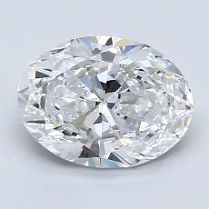 1,51-Carat Oval Diamond Very Good D VVS2