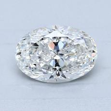 0.91 Carat Ovalado Diamond Muy buena F SI2