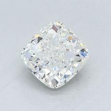 Pierre cible: Diamant Taille coussin de 1,02carat