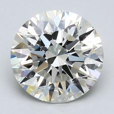 2.06 Carat 圆形 Diamond 理想 K SI1