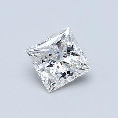 0.52 Carat 公主方形 Diamond 非常好 E VVS2