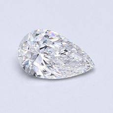 0.58 Carat 梨形 Diamond 非常好 D VVS2