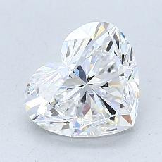 推薦鑽石 #2: 1.70 克拉心形切割鑽石