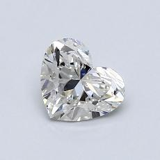 0.72-Carat Heart Diamond Very Good G SI1