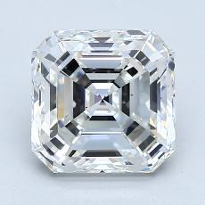 Piedra recomendada 3: con diamante Talla Asscher de 2.51 quilates