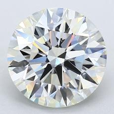 3.73-Carat Round Diamond Ideal J VVS2