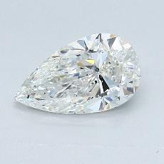 1.00 Carat 梨形 Diamond 非常好 G VS2