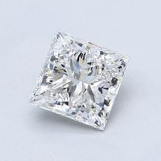 推荐宝石 1:1.03 克拉公主方形钻石