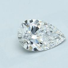 1.21-Carat Pear Diamond Very Good D IF