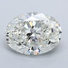 1.50 Carat 椭圆形 Diamond 非常好 H VS1
