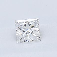 0.50-Carat Princess Diamond Very Good D VS2