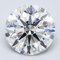 2.50-Carat Round Diamond Ideal F SI1
