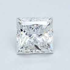 1,20-Carat Princess Diamond Very Good E VVS2