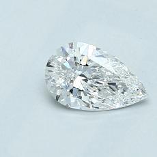 0.50-Carat Pear Diamond Very Good D VVS2