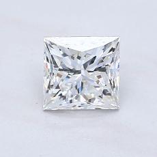Recommended Stone #2: 1.00-Carat Princess Cut Diamond