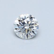 0,50-Carat Round Diamond Very Good F SI1