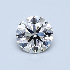 0.73-Carat Round Diamond Ideal I VVS2