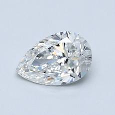 0.70-Carat Pear Diamond Very Good G VS2