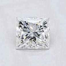 推荐宝石 2:1.02 克拉公主方形钻石