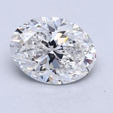 1.70-Carat Oval Diamond Very Good F VS2