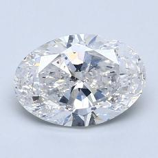 1.20-Carat Oval Diamond Very Good F SI2