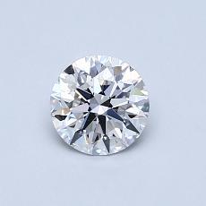 0.53-Carat Round Diamond Ideal D VVS2
