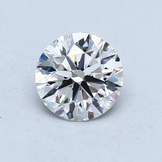 0.80-Carat Round Diamond Ideal E VS2