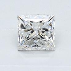 0.90 Carat 公主方形 Diamond 良好 G SI1