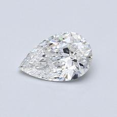 0,51-Carat Pear Diamond Very Good E VVS1