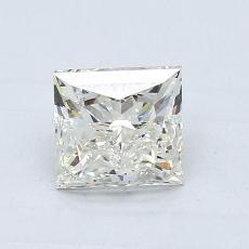 0.91 Carat 公主方形 Diamond 良好 K SI2