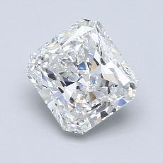 1,50 Carat Radiant Diamond Très bonne F VVS2