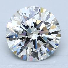 2.06-Carat Round Diamond Ideal H VS1