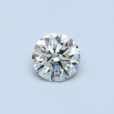 推薦鑽石 #3: 0.40 克拉圓形切割鑽石