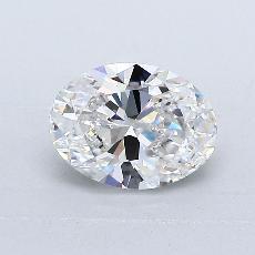 1.02-Carat Oval Diamond Very Good F VVS2
