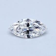 Pierre recommandée n°4: Diamant taille princesse 0,36 carat