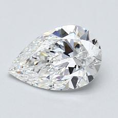 1.00 Carat Pera Diamond Muy buena E VS1