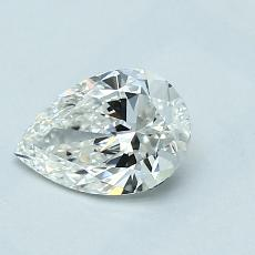 0.70-Carat Pear Diamond Very Good G IF