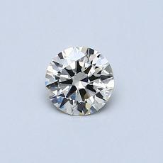 0,32-Carat Round Diamond Ideal K VVS2