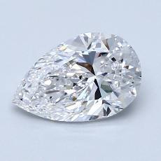所選擇的鑽石: 1.20 克拉梨形鑽石