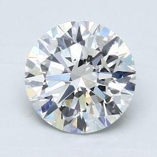 1.31-Carat Round Diamond Ideal G VVS2