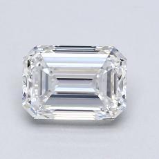 1.21-Carat Emerald Diamond Very Good E VVS2