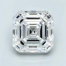 2.01-Carat Asscher Diamond Very Good D VVS1