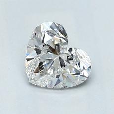 Piedra objetivo: Diamante con forma de corazón de 1.02 quilates